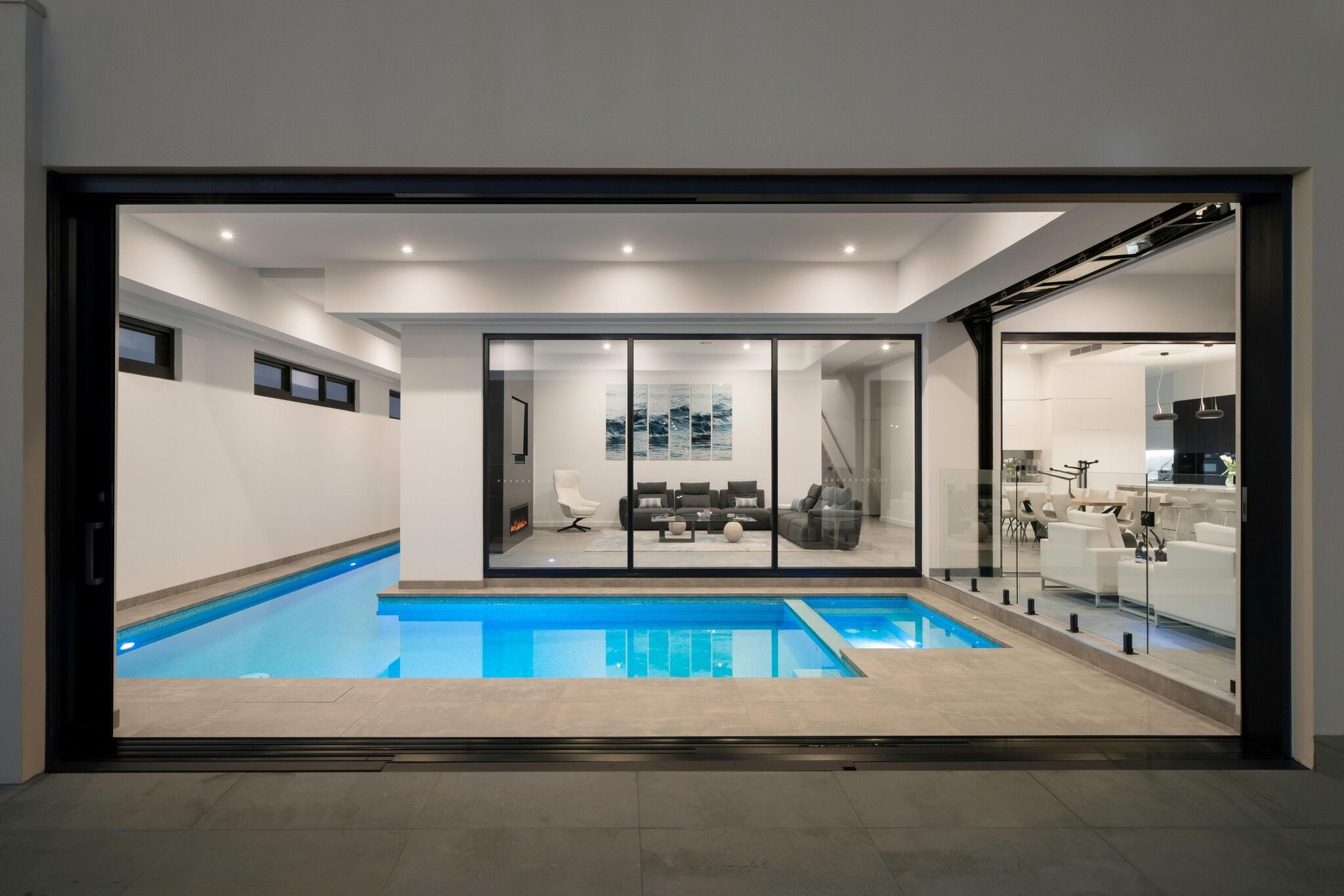 Indoor Lap Pool and Spa, Martha Cove - Neptune Pools